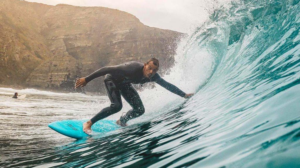 Surfing Arrifana Beach Algarve Portugal